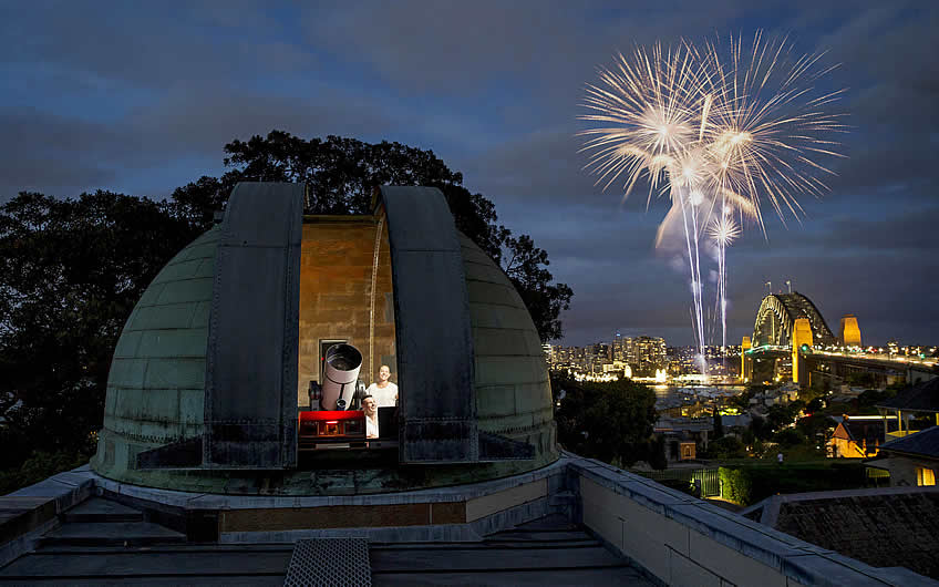 New Year's Eve at Sydney Observatory. Image credit: Museum of Applied Arts & Sciences.