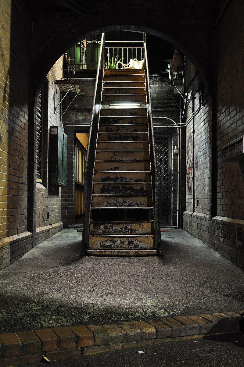 A metal staircase at The Rocks